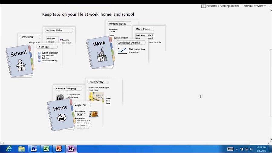OneNote 15 auf einem ARM-Tablet unter Windows RT