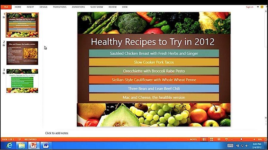 PowerPoint 15 auf einem ARM Tablet unter Windows RT