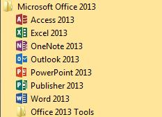Installation von Office 2013