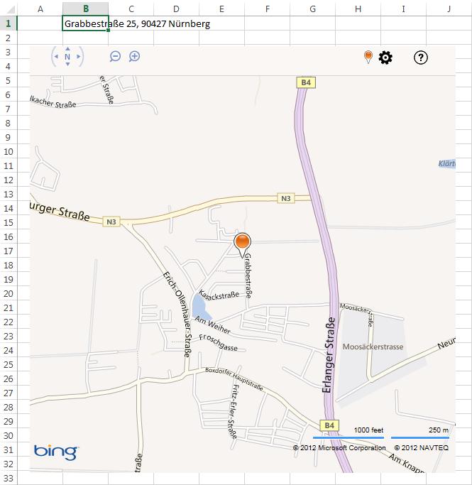 Bing Maps größer gezoomt