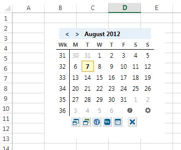 App in Excel-Tabelle